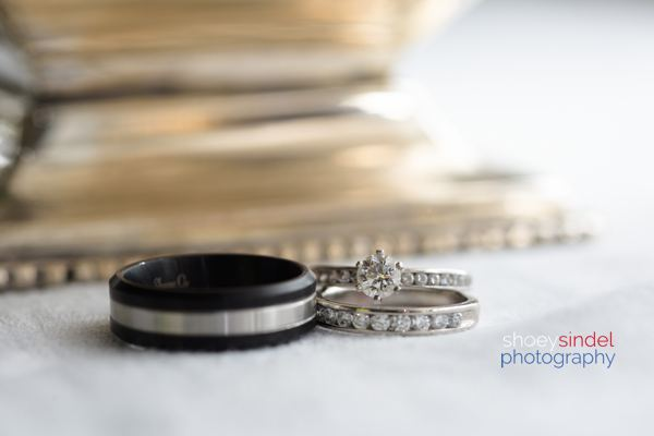 Wedding ring detail photography